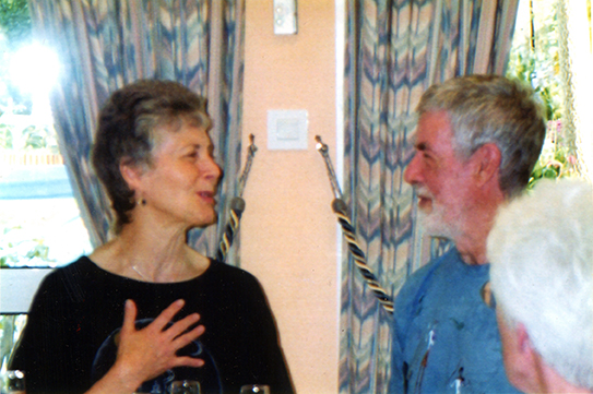 Elaine and Francis on their wedding anniversary in 2003.